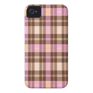 Pink, Purple & Browns PLAID iPhone 4/4s case