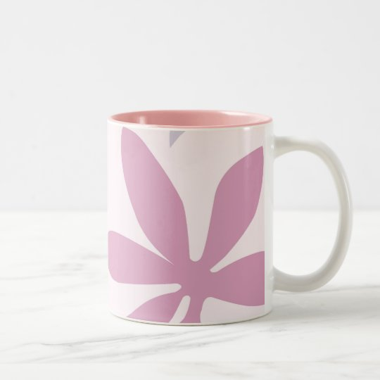 Pink, Purple & Burgundy Flower Petals Two-Tone Coffee Mug
