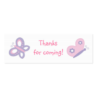 Pink & Purple Butterfly Favor Gift Tags Business Card