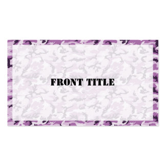 Pink & Purple Camouflage Background Business Card