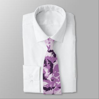 Pink & Purple Camouflage Background Neck Tie