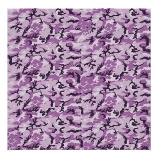 Pink & Purple Camouflage Background Poster