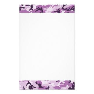 Pink & Purple Camouflage Background Stationery