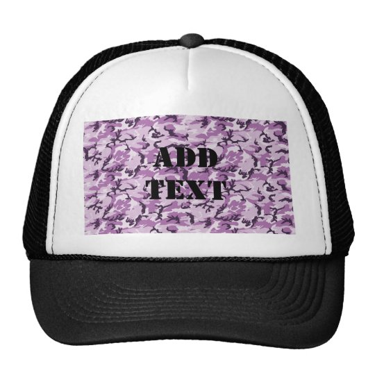 Pink & Purple Camouflage Background Trucker Hat