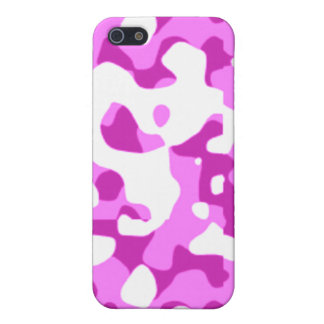 Pink Purple Camouflage for 4/4S Cover For iPhone SE/5/5s
