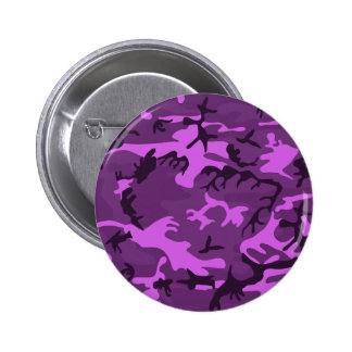 Pink purple camouflage style design pinback button