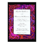 Pink & Purple Celtic Animals Wedding Invitation