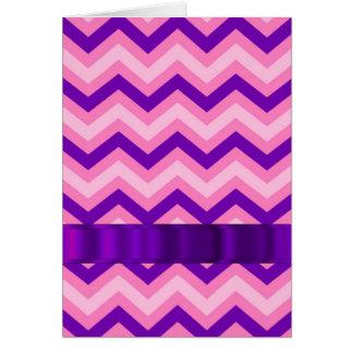 Pink & purple chevron card