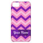 Pink & purple chevron iPhone 5C cases