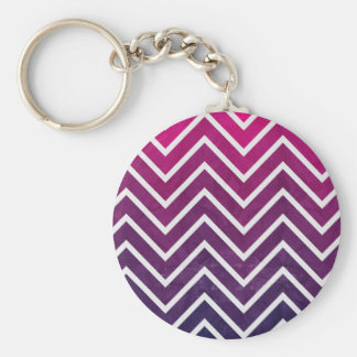Pink Purple Chevron Keychain