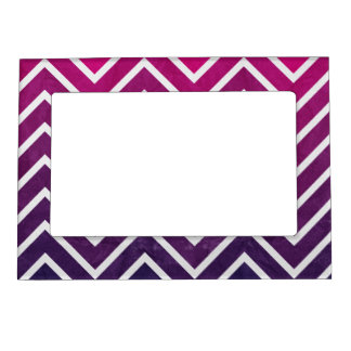 Pink Purple Chevron Magnetic Picture Frame