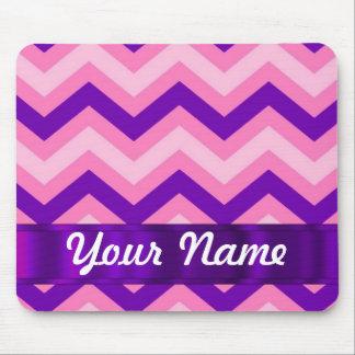 Pink & purple chevron mouse pad