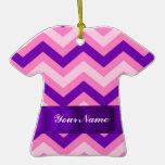 Pink & purple chevron ornaments