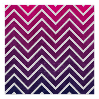 Pink Purple Chevron Print