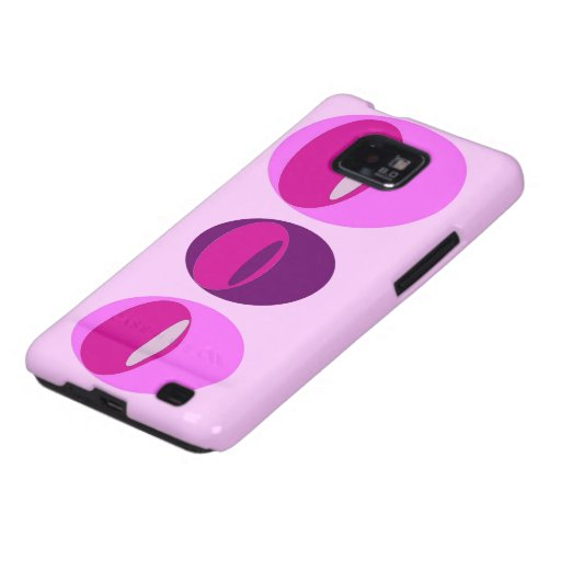 Pink, Purple, Circles, Ovals Samsung Galaxy S Case Samsung Galaxy SII Covers