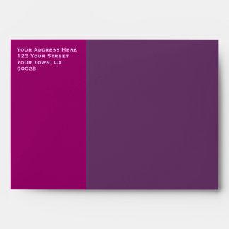 pink purple color envelopes
