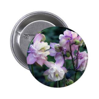 Pink Purple Columbine flowers Buttons
