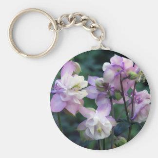 Pink Purple Columbine flowers Key Chain