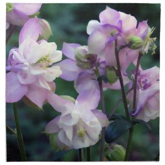 Pink Purple Columbine flowers Cloth Napkin
