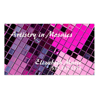 Pink Purple Cosmetic Artist-Indestructible Business Card