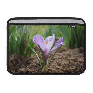 Pink Purple Crocus Vernus Flower MacBook Air Sleeve