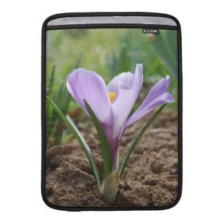 Pink Purple Crocus Vernus Flower Sleeve For MacBook Air
