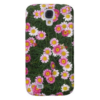 Pink & Purple Daisies Flowers Galaxy S4 Cover