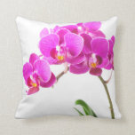 Pink Purple Dendrobium Orchid Tropical Flower Pillow