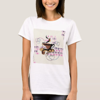 Pink Purple Design Fun for Coffee Lovers T-Shirt