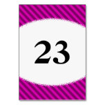 [ Thumbnail: Pink/Purple Diagonal Stripes + Splatter Shape Table Number ]
