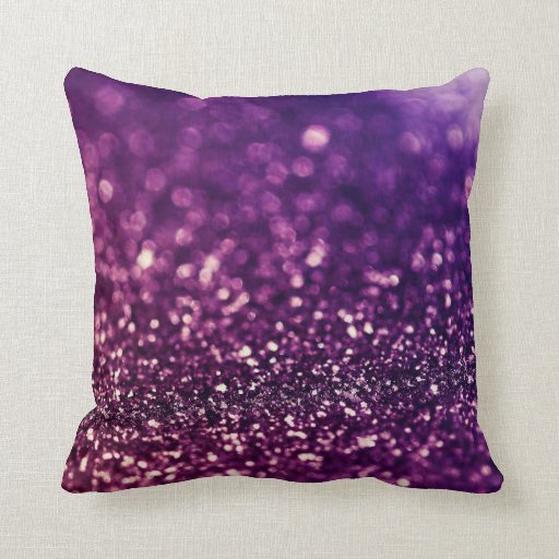 Pink Purple Decorative Pillows : Pink purple dust glitter throw pillow Zazzle