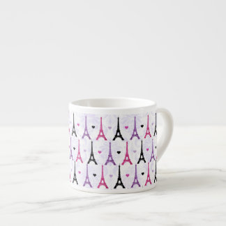 Pink & Purple Eiffel Tower pattern Espresso Cup