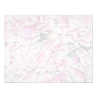 Pink Purple Elegance miniature carnations flowers Letterhead