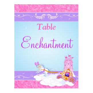Pink, Purple Fairy Tale Table Name/Number Postcard