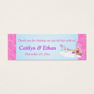 Pink, Purple Fantasy Fairy Tale Wedding Favor Tag