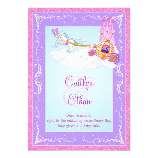 Fantasy Wedding Invitations: Pink, Purple Fantasy Fairytale Wedding Invitation