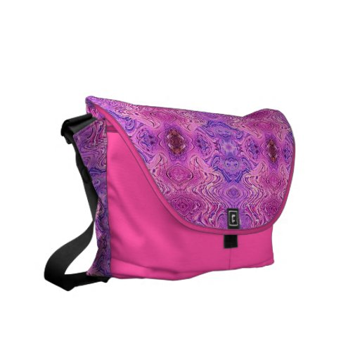 Pink Purple Faux Glass Abstract Courier Bags
