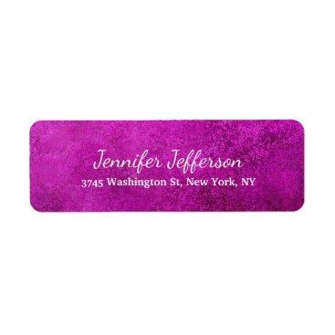 Professional Business Pink Purple Feminine Handwriting Creative Plain Label