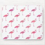 Pink Purple Flamingo Watercolor Tropical Flamingos Mouse Pad