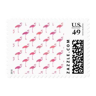 Pink Purple Flamingo Watercolor Tropical Flamingos Stamps