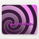 Pink Purple Floral Spiral Personalized Mousepad