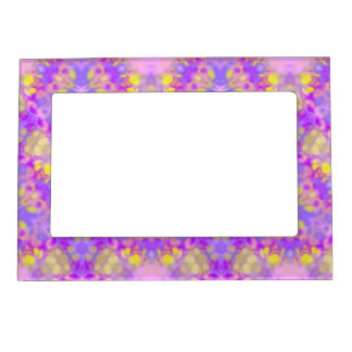 Pink purple flower abstract Magnetic Frame