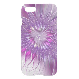 Pink Purple Flower Passion Abstract Fractal Art iPhone 7 Case