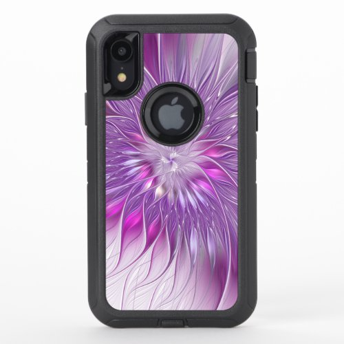 Pink Purple Flower Passion Abstract Fractal Art Phone Case