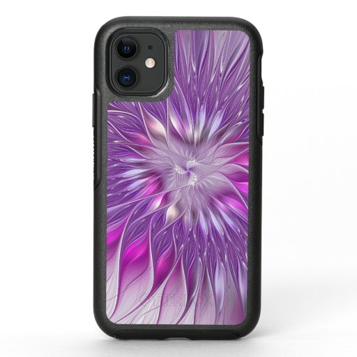 Pink Purple Flower Passion Abstract Fractal Art OtterBox Symmetry iPhone 11 Case