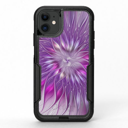 Pink Purple Flower Passion Abstract Fractal Art OtterBox Commuter iPhone 11 Case