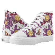 pink purple flower print shoes
