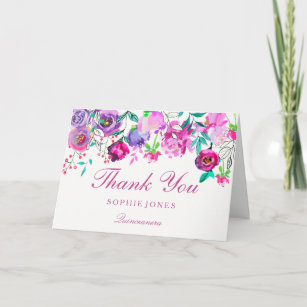 Quinceanera Thank You Cards Zazzle