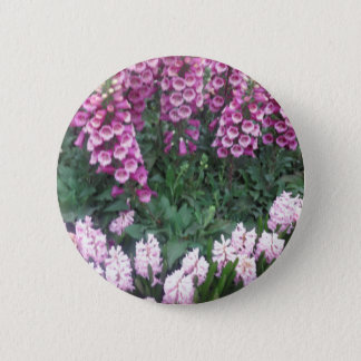 PINK Purple Flower Show: Love Sensual Romance Gift Button