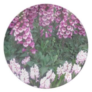 PINK Purple Flower Show: Love Sensual Romance Gift Melamine Plate